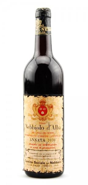 Wein 1970 Nebbiolo d-Alba Cantina Sociale del Nebbiolo