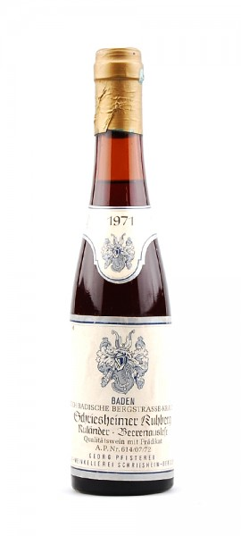 Wein 1971 Schriesheimer Kuhberg Beerenauslese