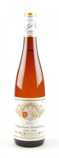 Wein 1970 Hallgartener Deutelsberg Riesling Spätlese