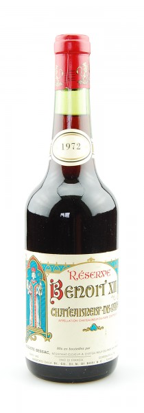 Wein 1972 Reserve Benoit XII Chateauneuf-du-Pape