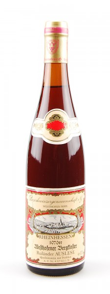 Wein 1976 Westhofener Bergkloster Ruländer Auslese