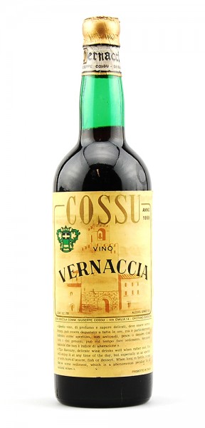 Wein 1969 Vernaccia Giuseppe Cossu