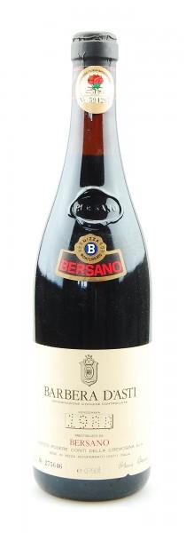 Wein 1988 Barbera d´Asti Bersano Conti della Cremosina