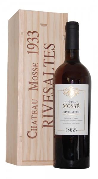 Wein 1933 Rivesaltes Chateau Mossé