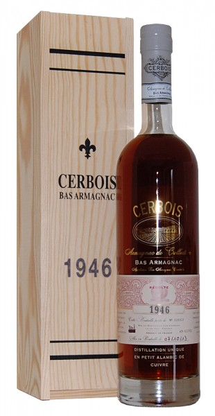 Armagnac 1946 Bas Armagnac Cerbois
