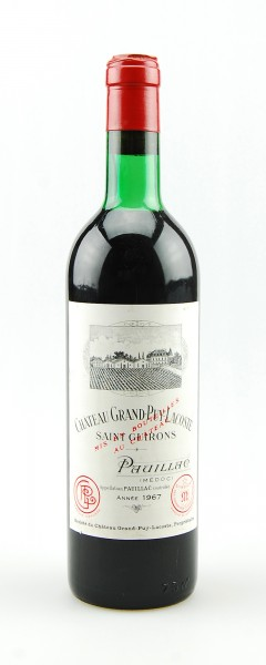Wein 1967 Chateau Grand-Puy Lacoste 5eme Pauillac