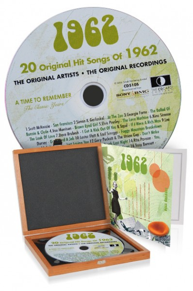 CD 1962 Musik-Hits in Luxusbox