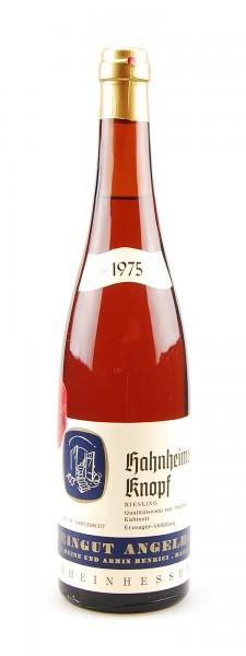 Wein 1975 Hahnheimer Knopf Riesling Kabinett