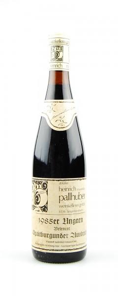 Wein 1985 Belencer Spätburgunder Ausbruch