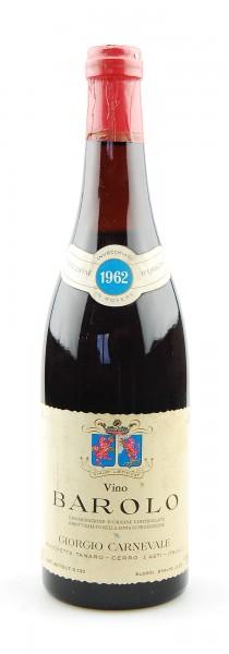 Wein 1962 Barolo Giorgio Carnevale