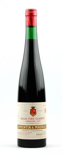 Wein 1963 Rioja Fino Clarete Armentia & Madrazo