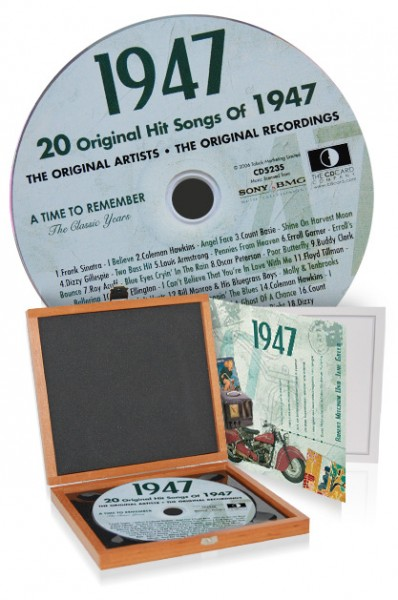 CD 1947 Musik-Hits in Luxusbox