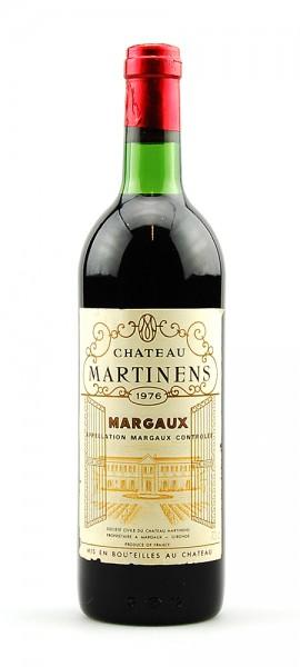 Wein 1976 Chateau Martinens Appelation Margaux