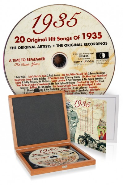 CD 1935 Musik-Hits in Luxusbox