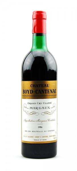 Wein 1986 Chateau Boyd-Cantenac 3eme Grand Cru Classe