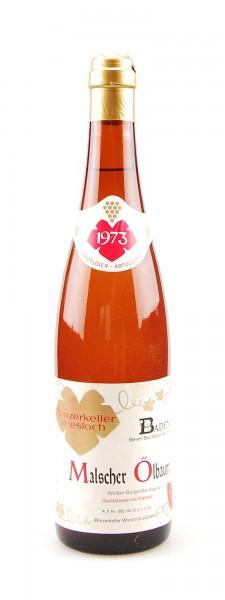 Wein 1973 Malscher Ölbaum Weißer Burgunder