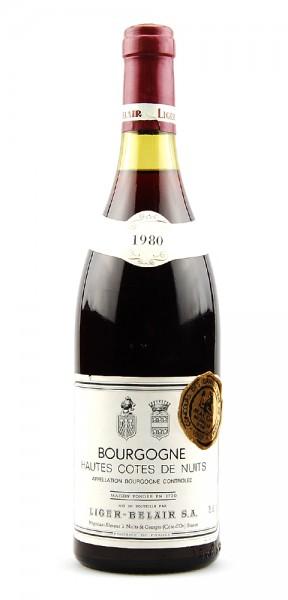 Wein 1980 Haut Cotes de Nuits Liger-Belair