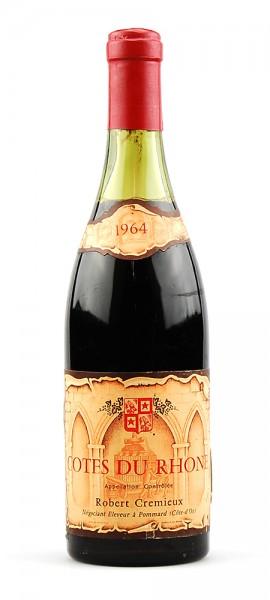 Wein 1964 Cotes du Rhone R. Cremieux
