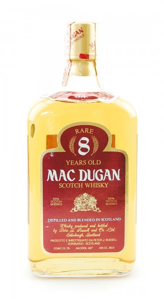 Whisky 1974 Mac Dugan Rare 8 Years Blended Scotch