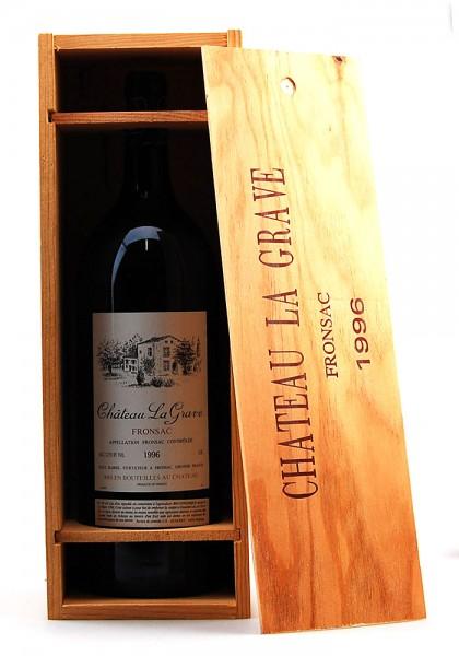 Wein 1996 Chateau La Grave Paul Barre Fronsac Magnum