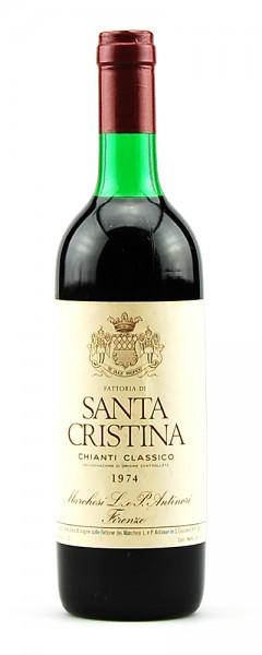 Wein 1974 Chianti Classico Santa Cristina Antinori
