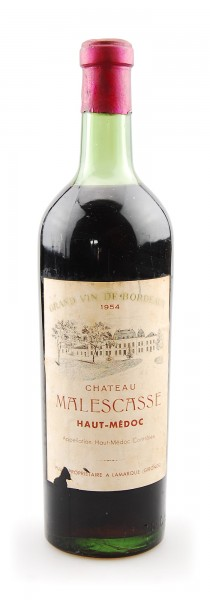 Wein 1954 Chateau Malescasse Haut-Medoc