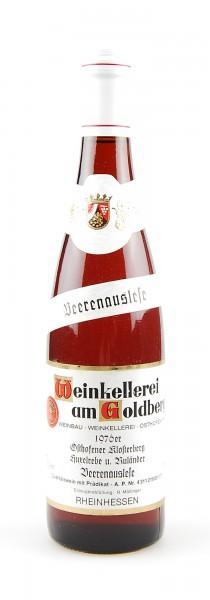 Wein 1976 Osthofener Klosterberg Beerenauslese