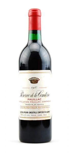 Wein 1987 Reserve de la Comtesse