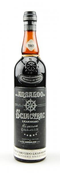 Wein 1961 Ansaldo Sciactrac Liquoroso Riserva