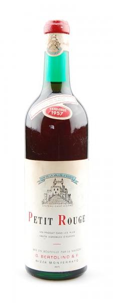Wein 1957 Petit Rouge G. Bertolino