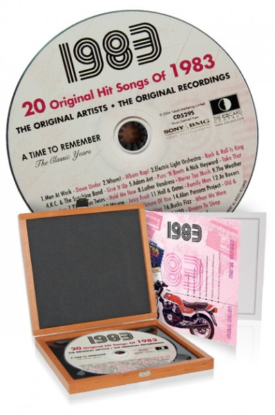 CD 1983 Musik-Hits in Luxusbox