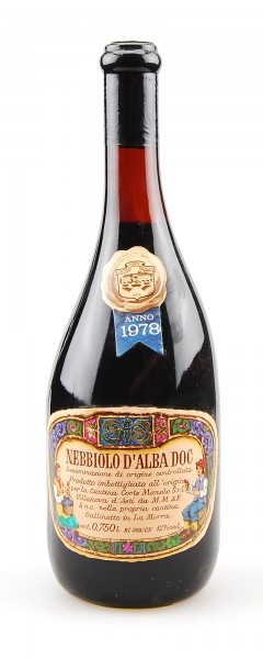Wein 1978 Nebbiolo d Alba Corte Manolo