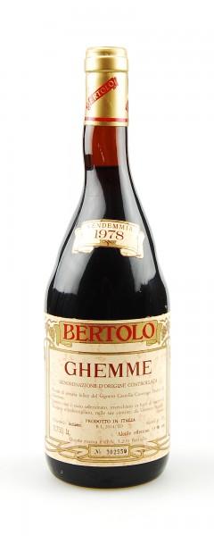 Wein 1978 Ghemme Lorenzo Bertolo Riserva Numerata