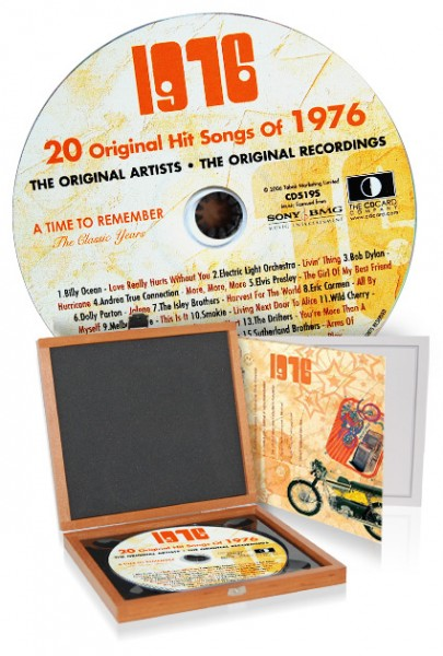 CD 1976 Musik-Hits in Luxusbox