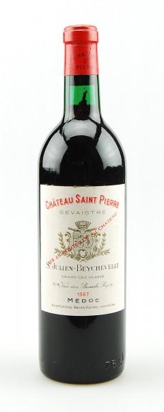 Wein 1967 Chateau Saint Pierre 4eme Grand Cru Classe
