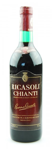 Wein 1978 Chianti Barone Ricasoli