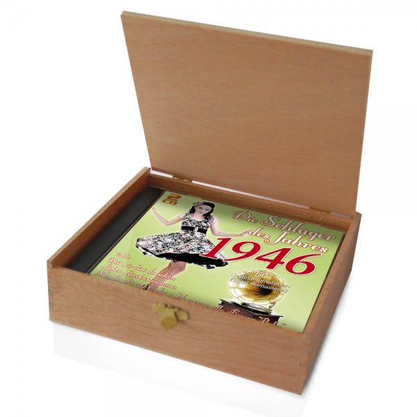 CD 1946 Schlager in Holzkiste mit Banderole und Siegel
