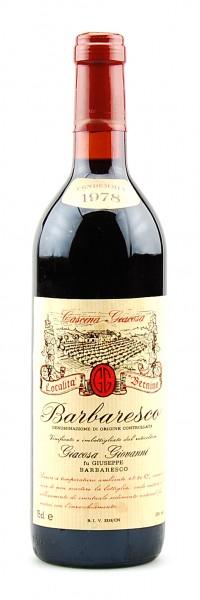 Wein 1978 Barbaresco Giovanni Giacosa