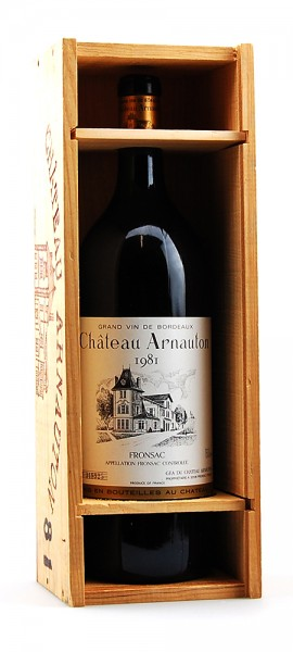 Wein 1981 Chateau Arnauton Fronsac Magnum
