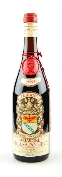 Wein 1991 Amarone della Valpolicella Fabiano