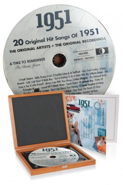 CD 1951 Musik-Hits in Luxusbox, auch mit Gravur!