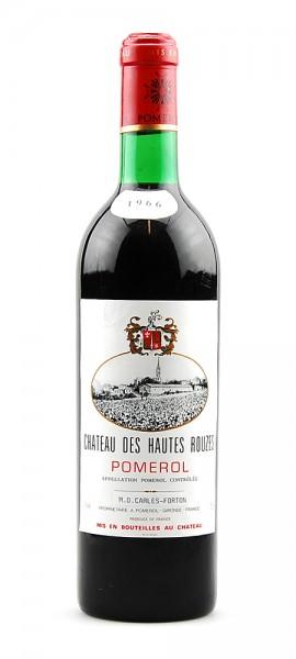 Wein 1966 Chateau des Hautes Rouzes Appelation Pomerol