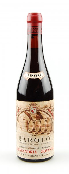 Wein 1966 Barolo Alessandria