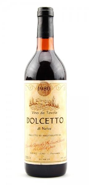 Wein 1980 Dolcetto di Neive Fontana Bianco