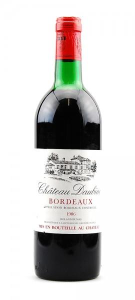 Wein 1986 Chateau Daubiac Appelation Bordeaux Controlee