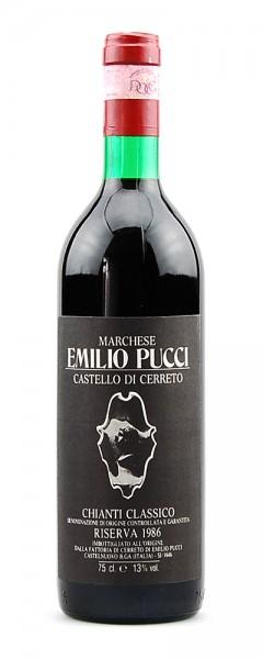 Wein 1986 Chianti Classico Riserva Castello di Ceretto