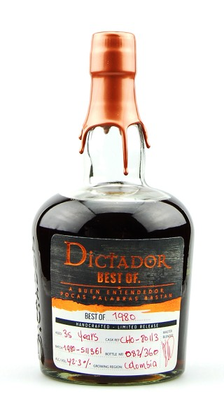 Rum 1980 Dictador Vintage Single Cask 35 Jahre