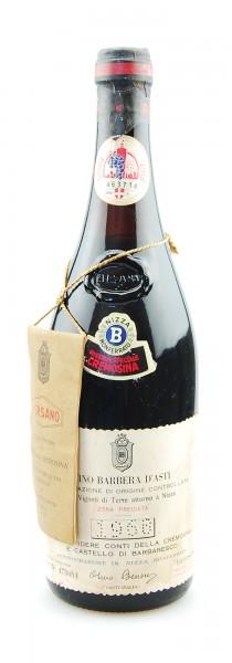Wein 1968 Barbera d´Asti Riserva Speciale Bersano Conti della Cremosina