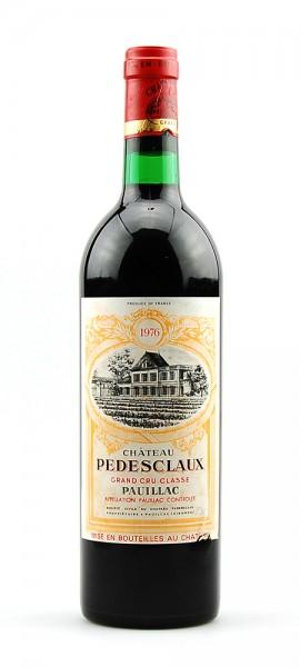 Wein 1976 Chateau Pedesclaux 5eme Grand Cru Classe