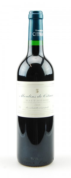 Wein 2008 Moulins de Citran Haut Medoc